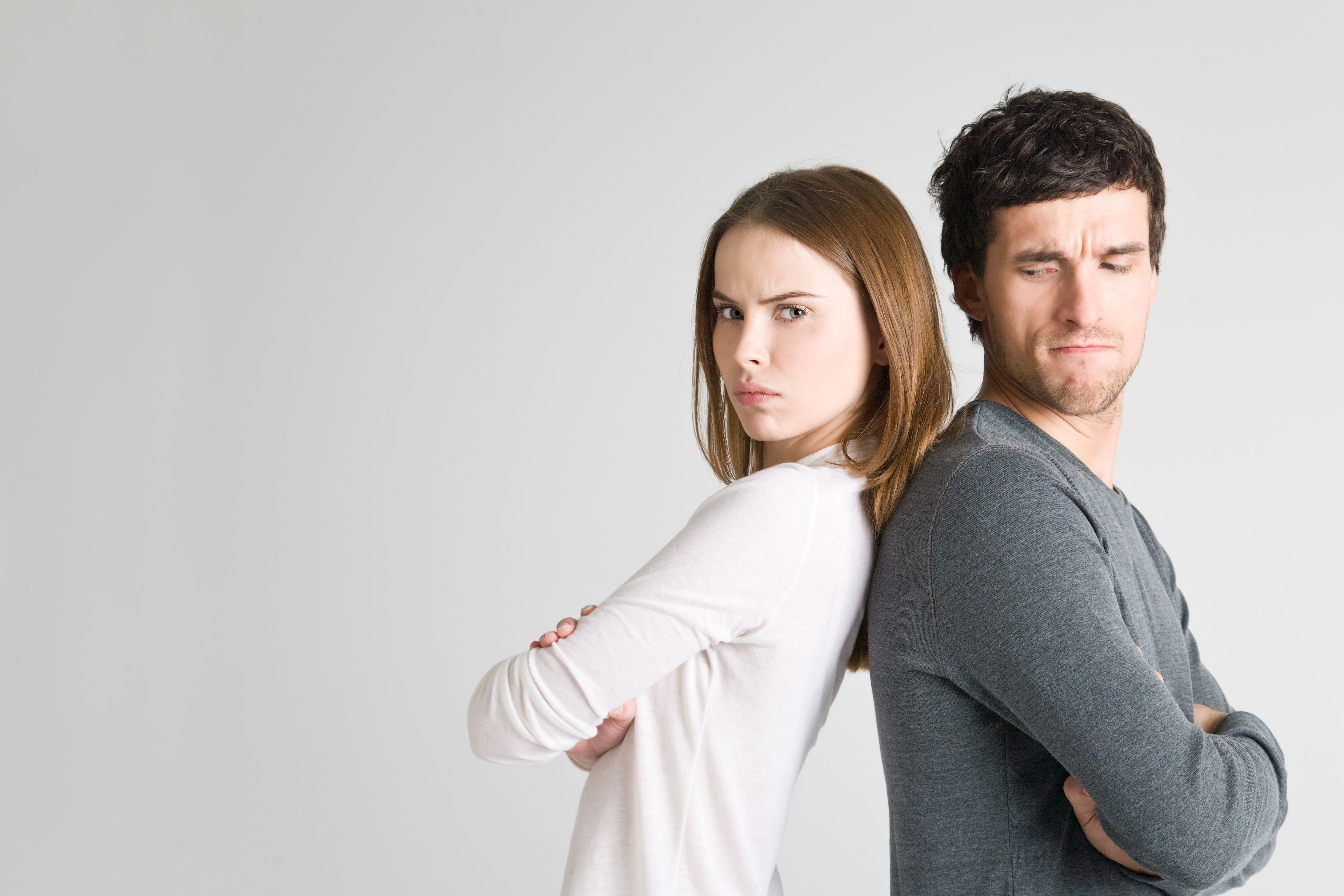 Couple in disagreement and conflict