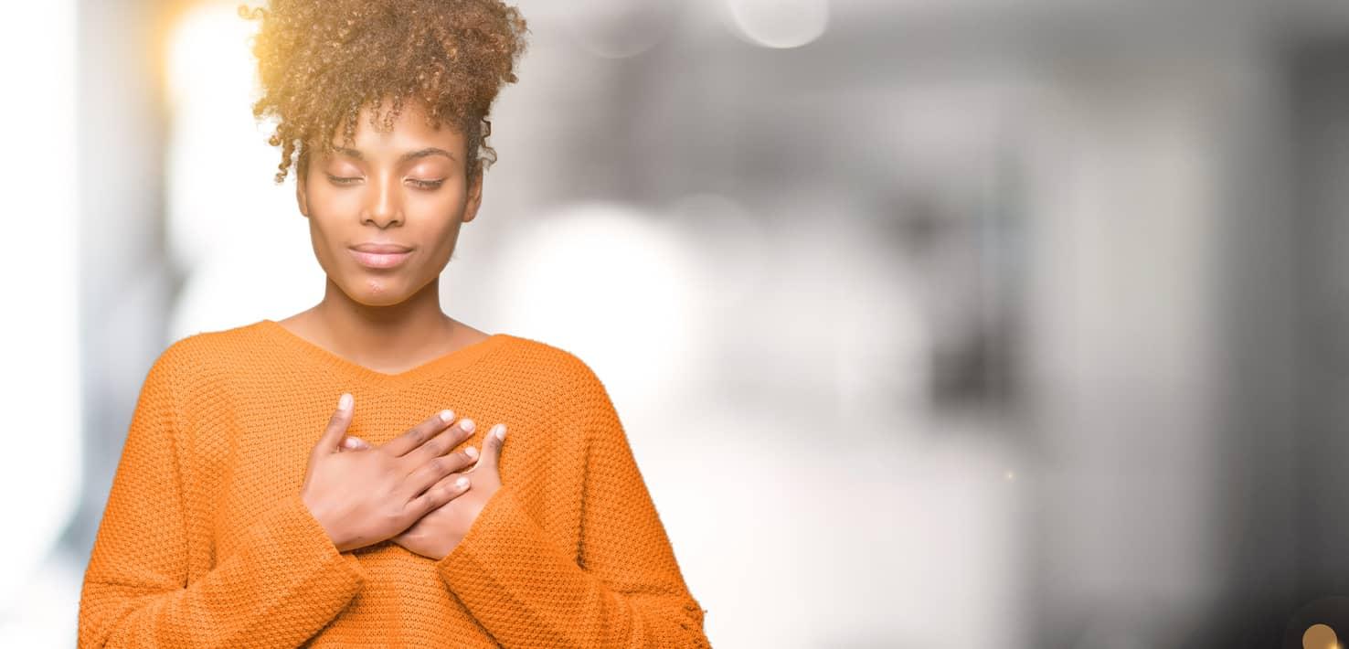 Black women practicing self-acceptance