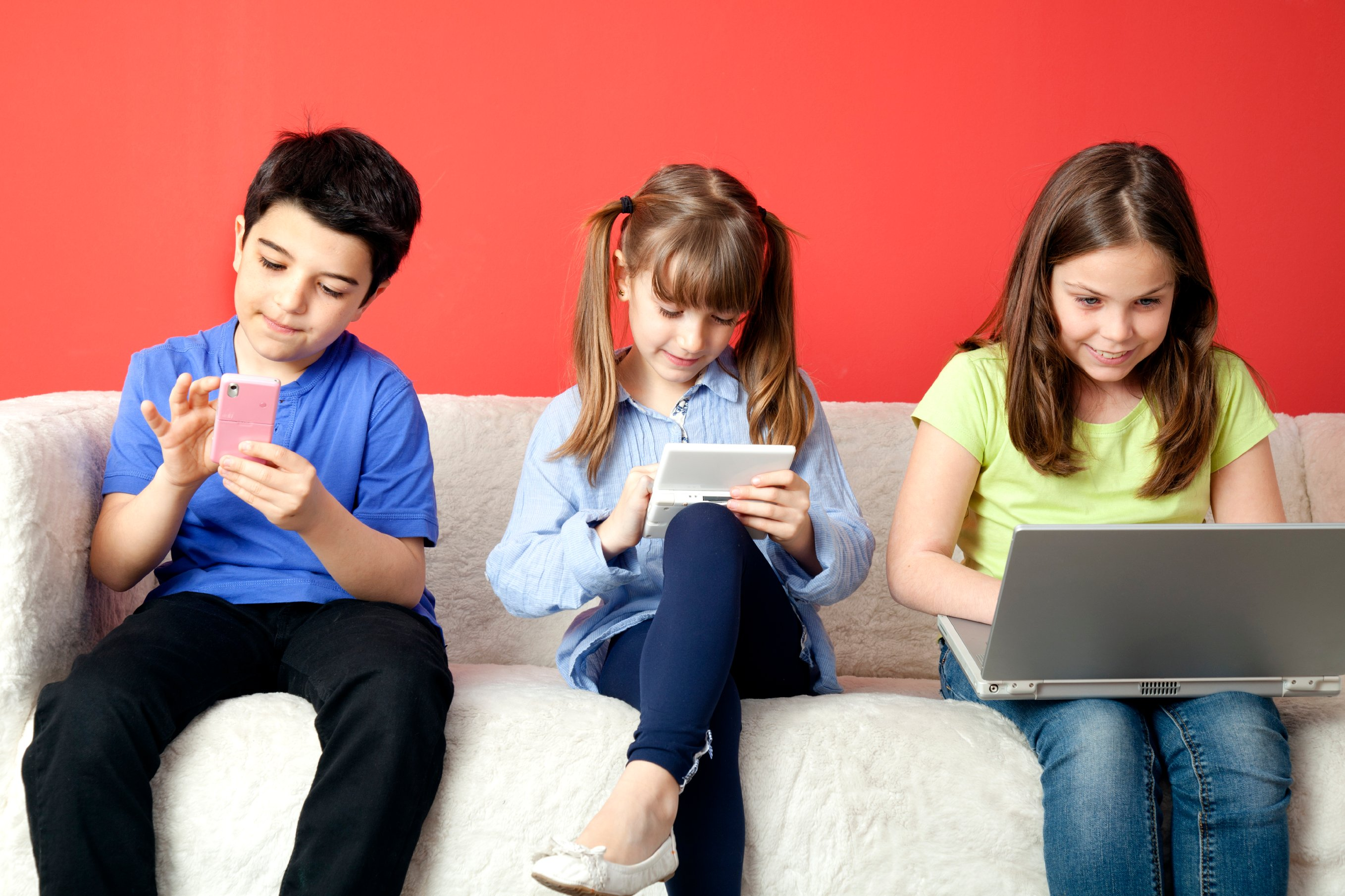 Children addicted to technology