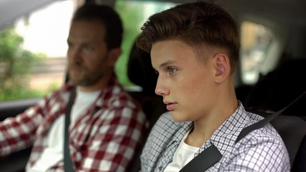 Teenage boy with driver's permit, a scary time for a parent
