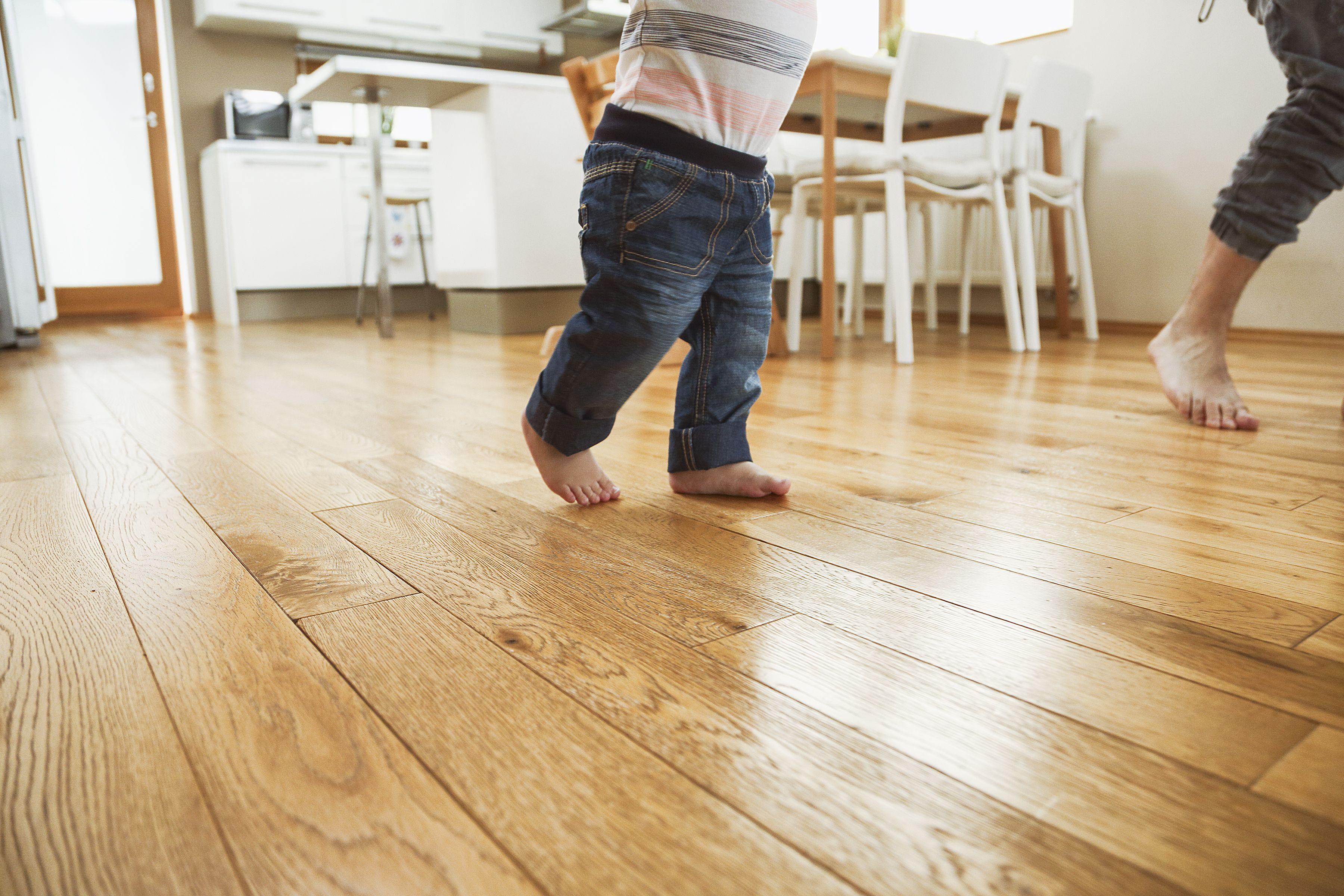 Toddler walking full steam ahead