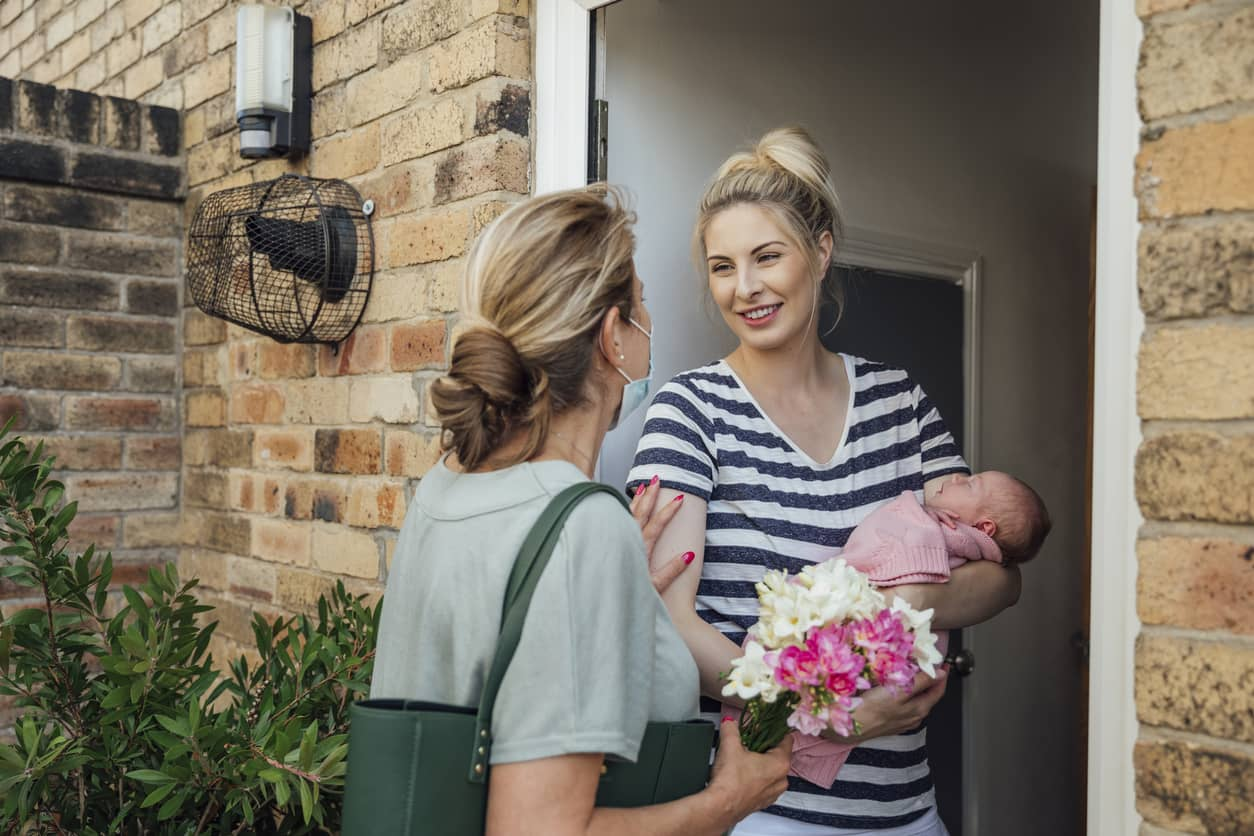 Mother-in-Law dropping by with flowers