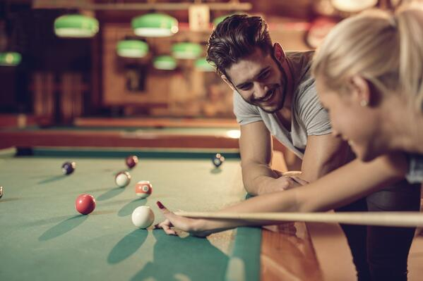 Relationship is a lot like a game of pool