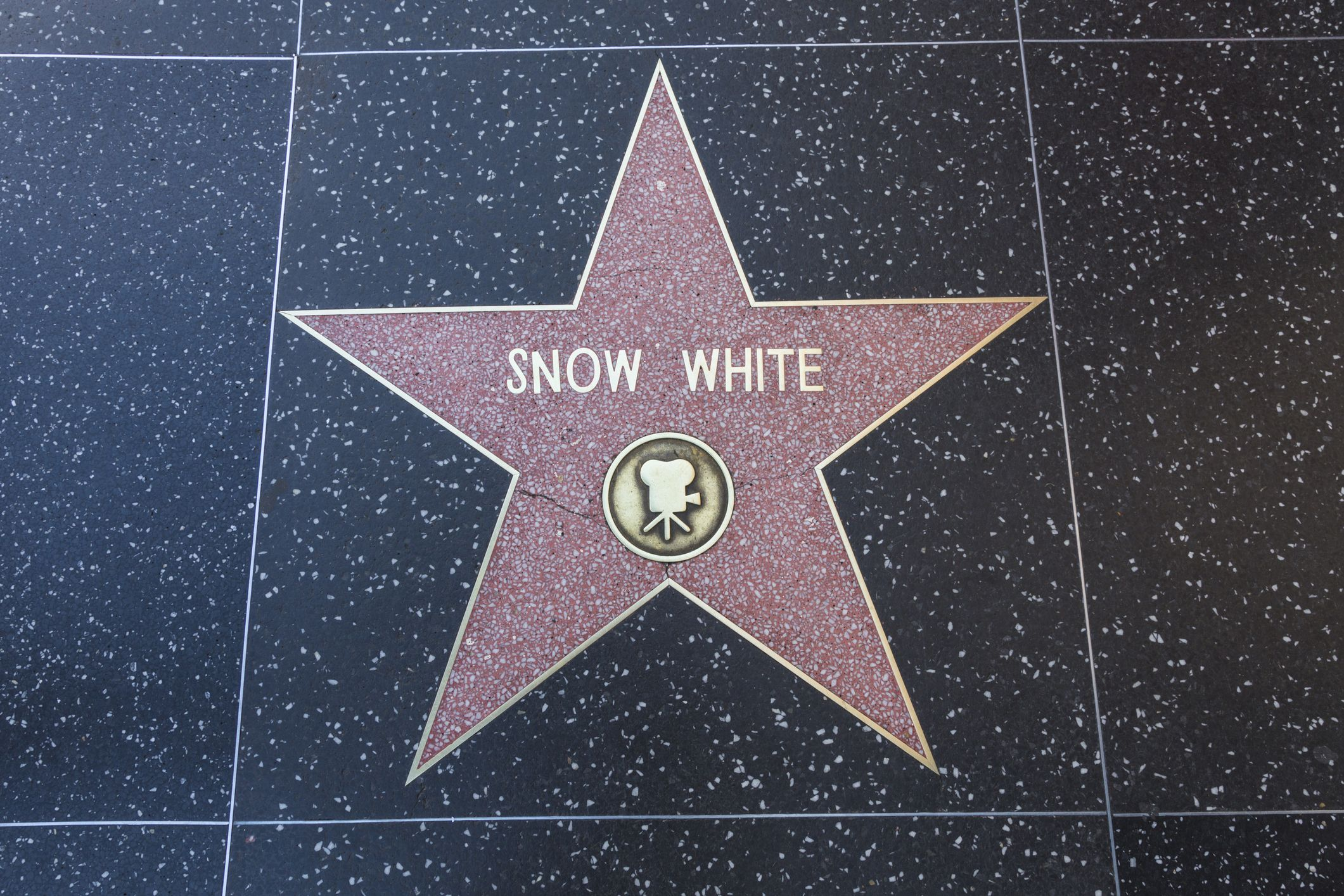 Hollywood Walk of Fame Star for Snow White-