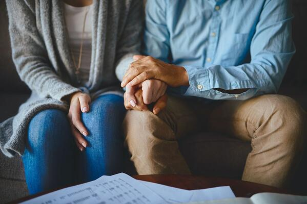 Husband empathizing with his wife