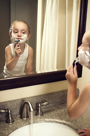 Children mimic their parents so be a good example