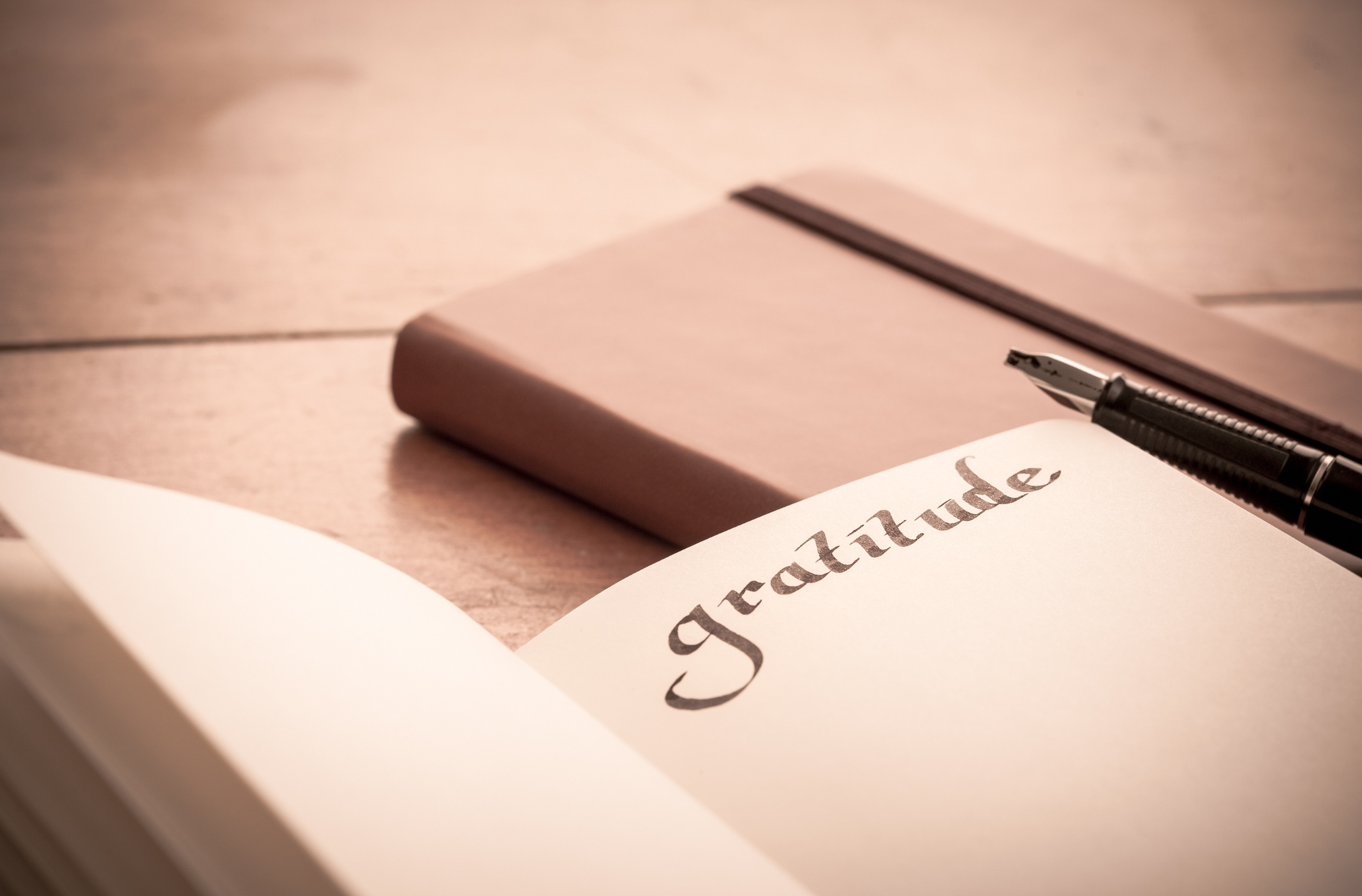 A gratitude journal is a great way to build positivity