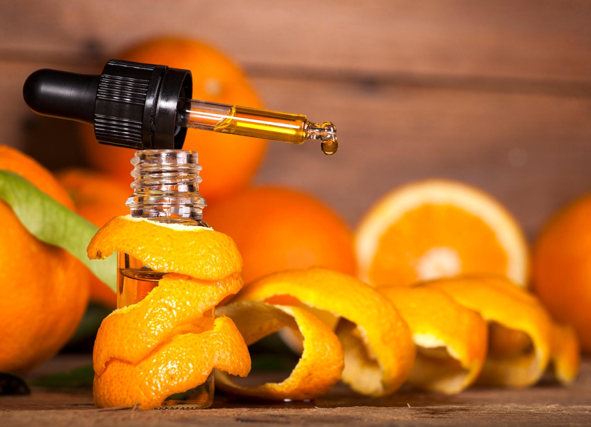 Orange essential oil for health