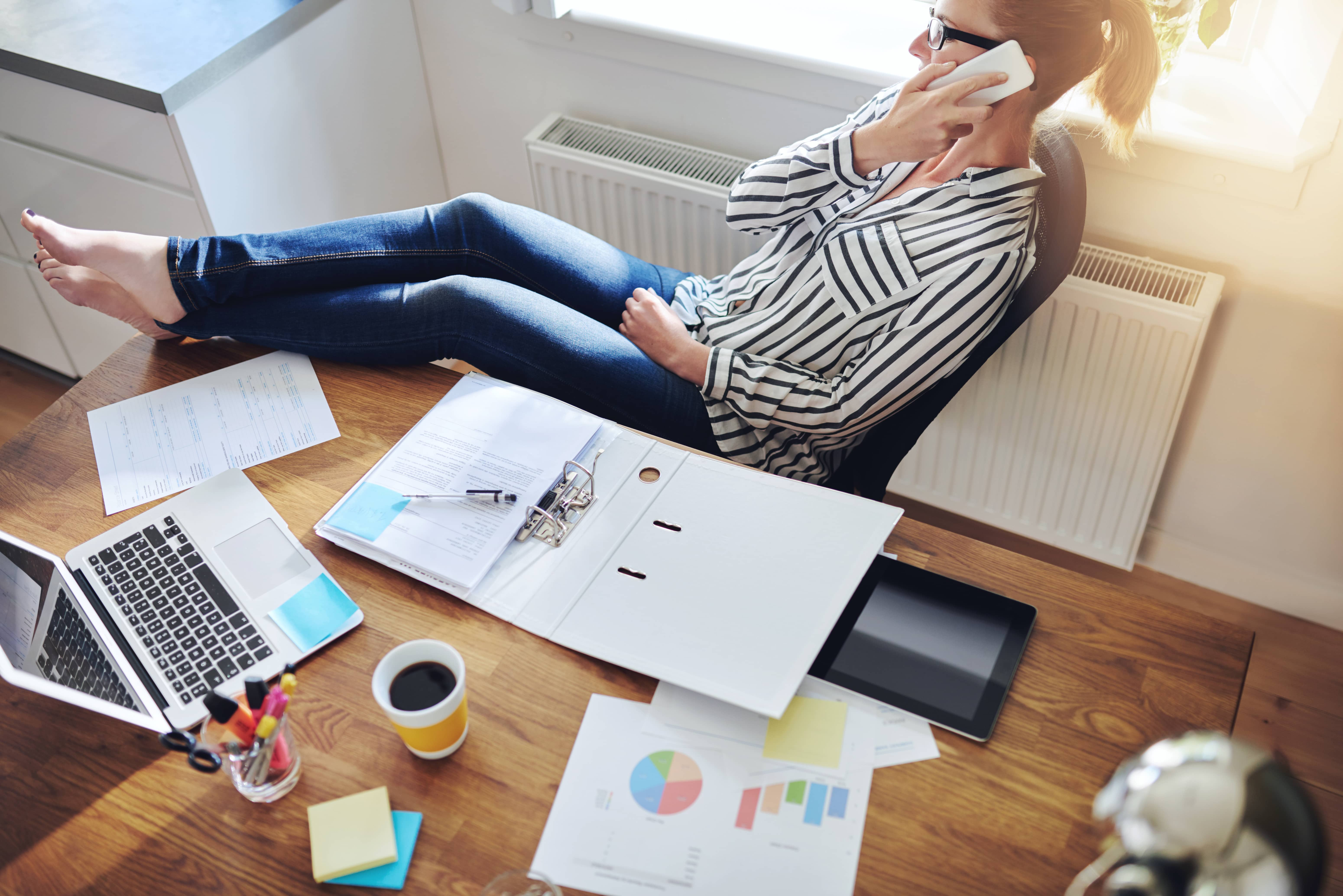 A mompreneur finds work-life balance working at home