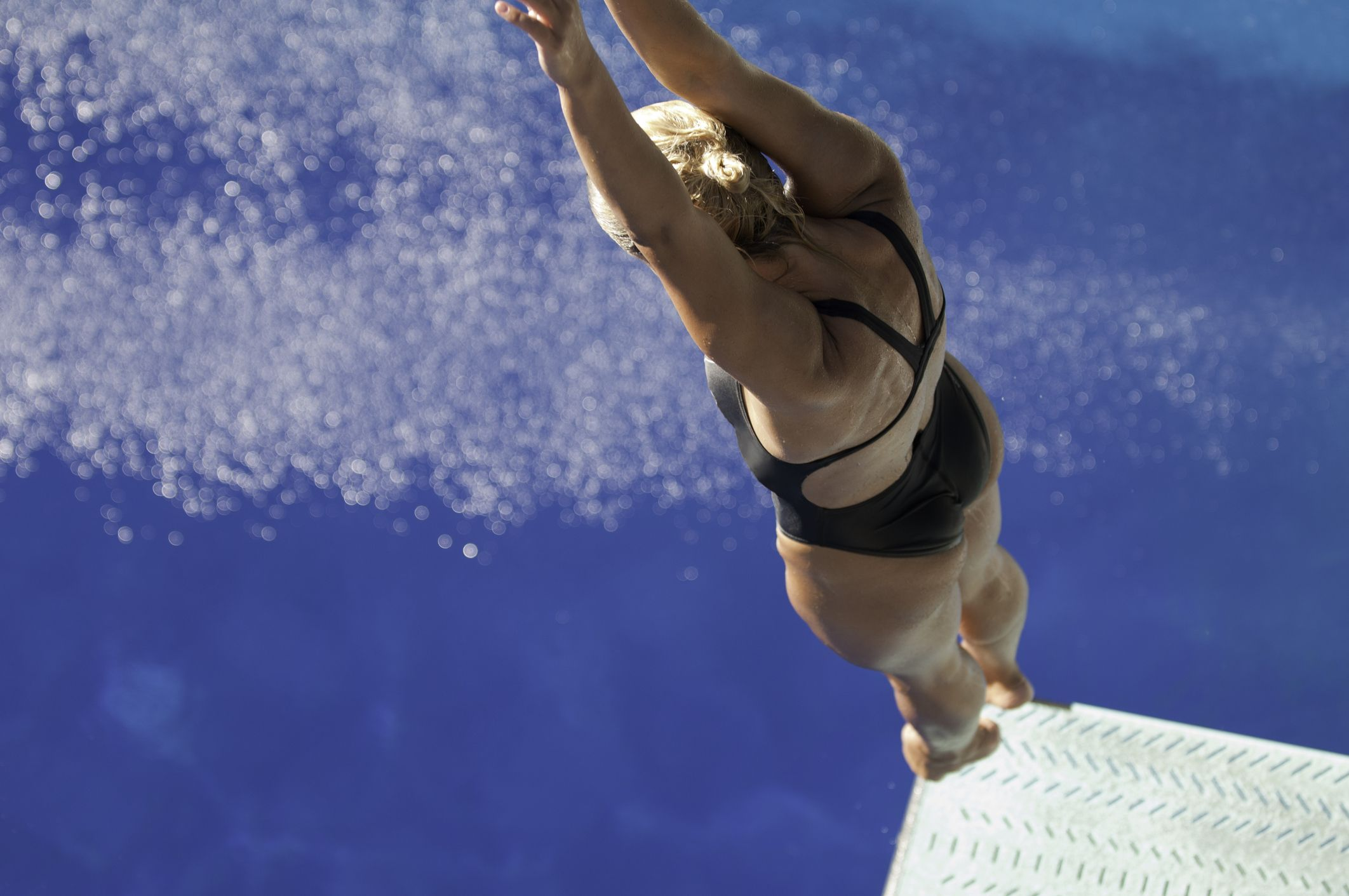 Springboard diving in high school