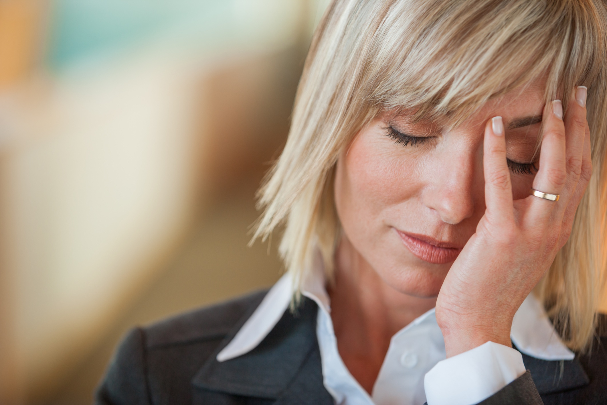 Woman sorting through conflicted feelings to find inner peace