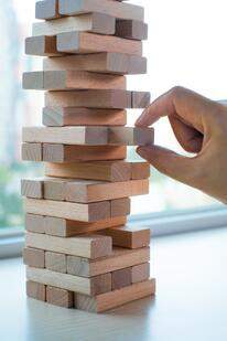 Removing lifetime habits feels like pulling blocks from a Jenga tower
