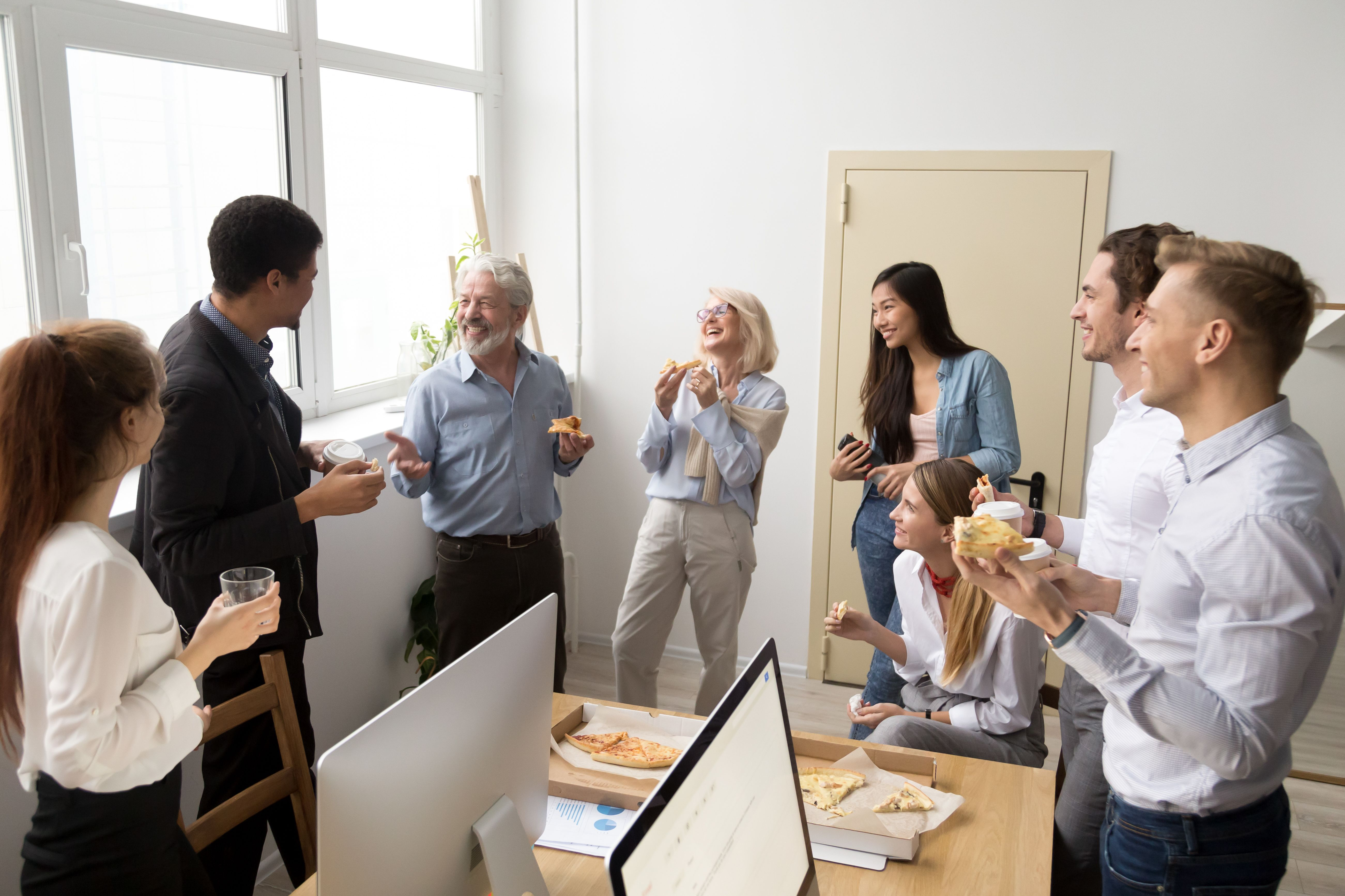 A company celebrating employees' successes