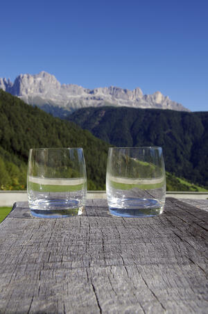 Two glasses celebrating a marriage and love