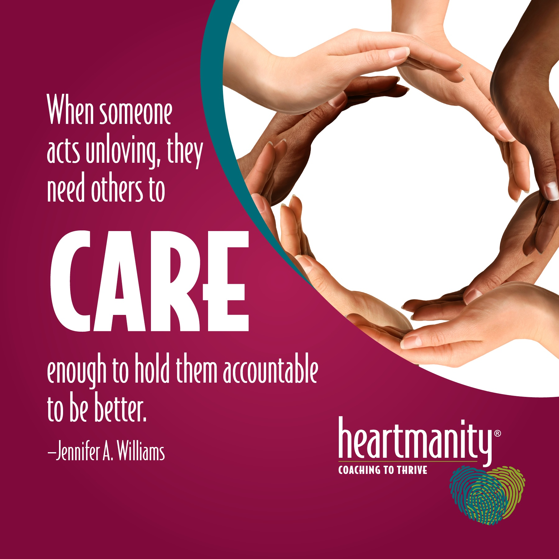Caring is holding people accountable to be their best self