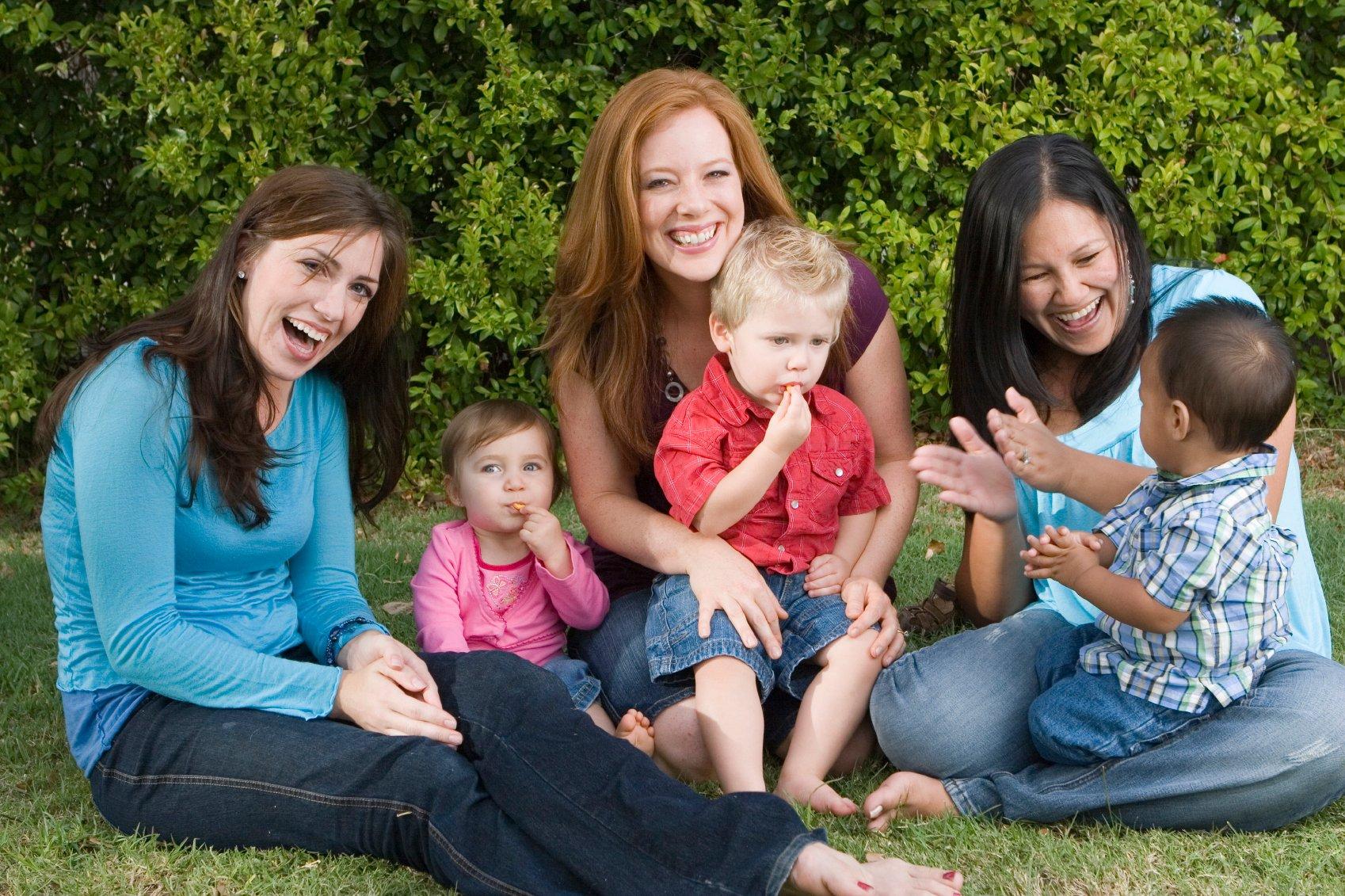 Women & children in park