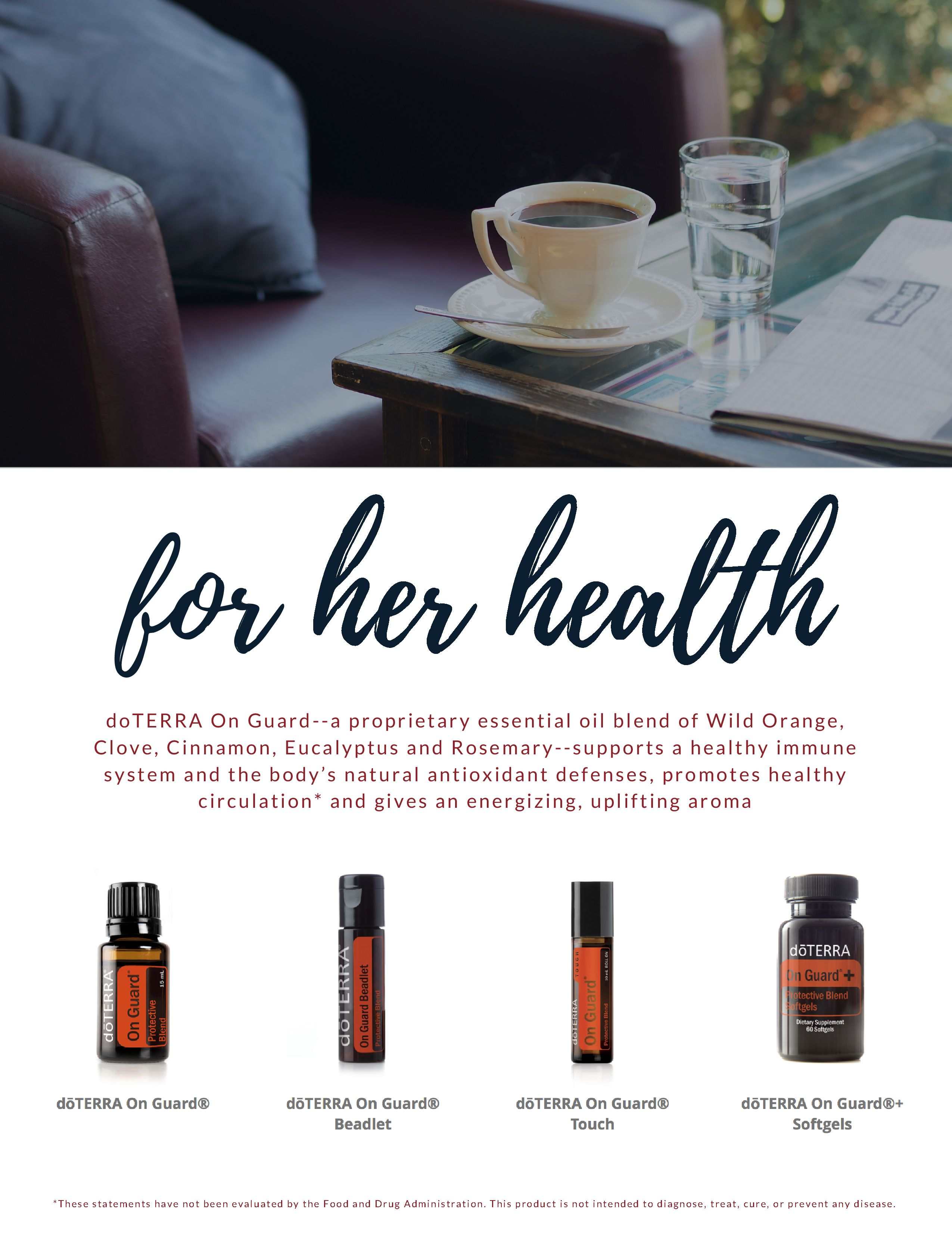 DoTERRA On Guard has a special blend of essential oils to promote health