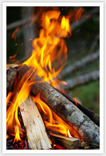 Vibrant camp fire