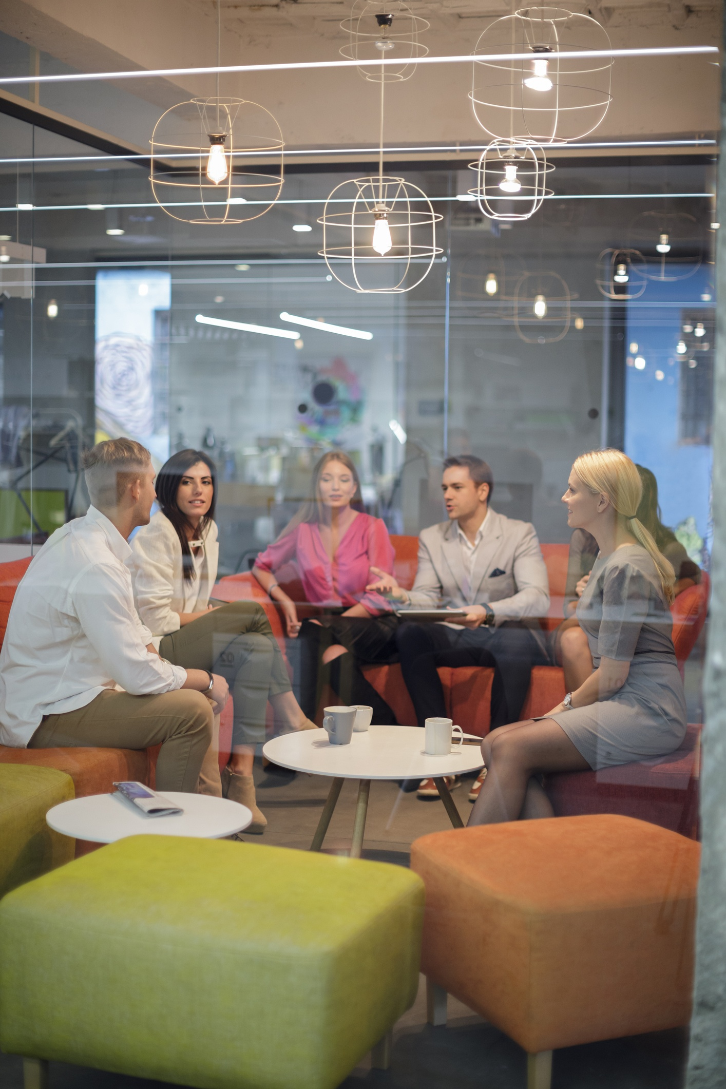 Providing a comfortable meeting space helps destress employees