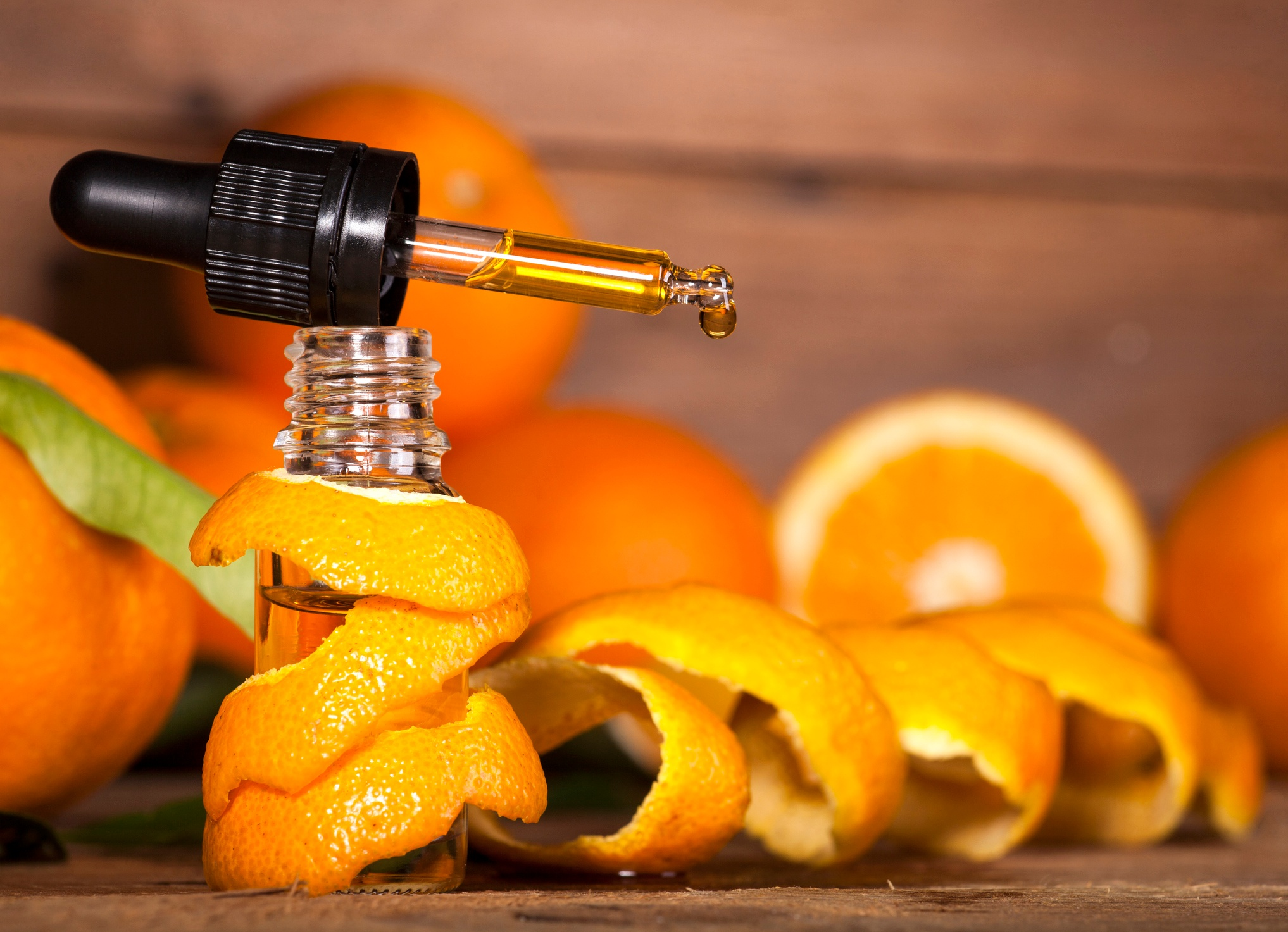 Orange essential oil for health