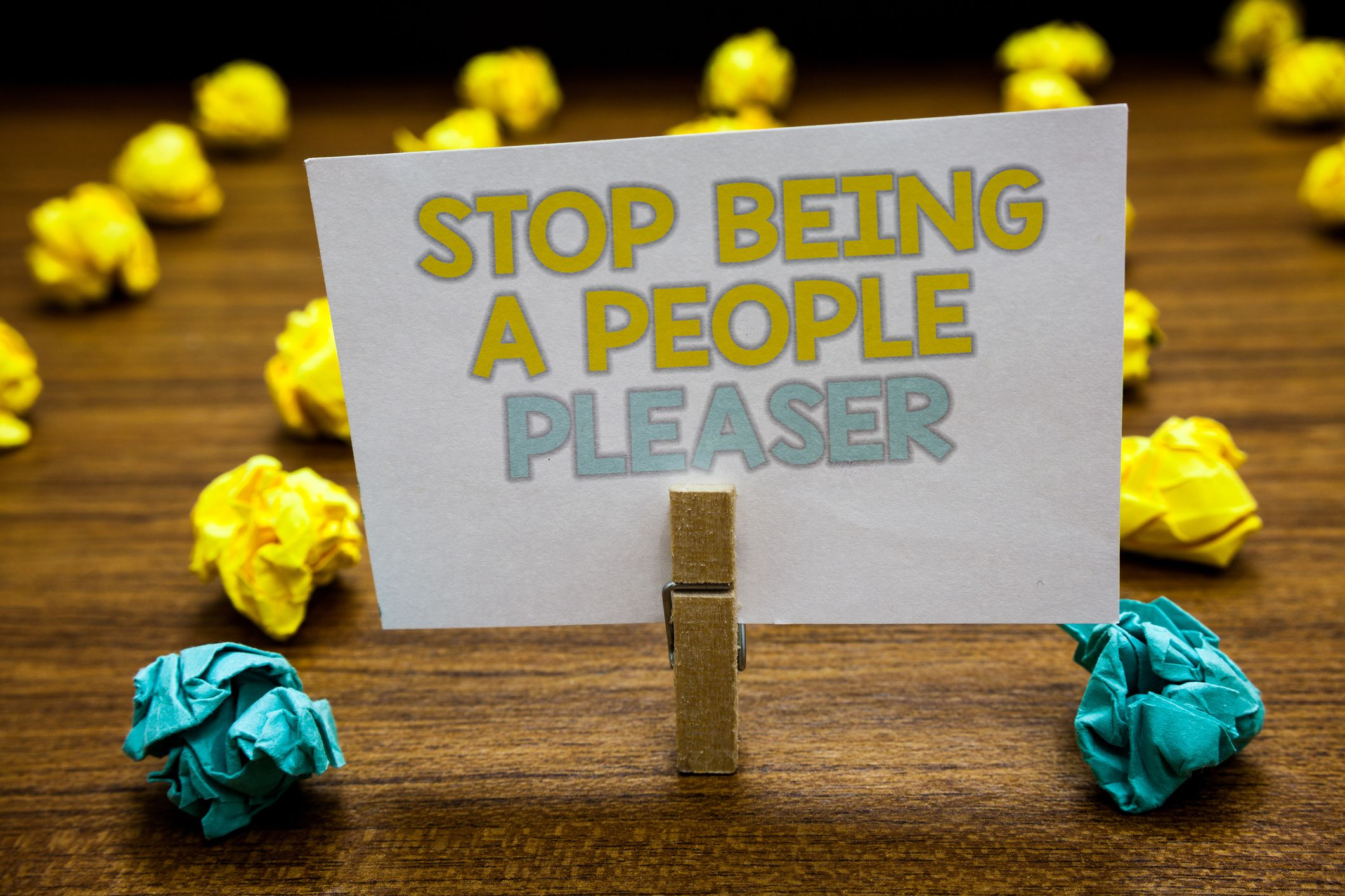 Stop being a people pleaser
